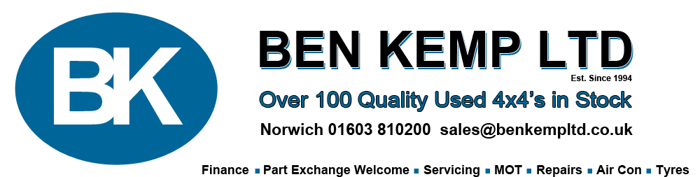 Ben Kemp Ltd Quality Used 4x4 - Sales Mobile 07514 634455 - Ben Kemp Ltd